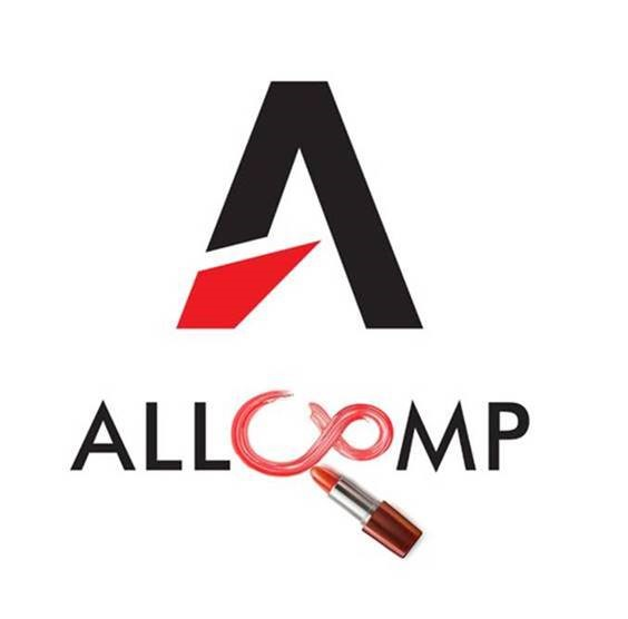 allcomp logo szminką pisane